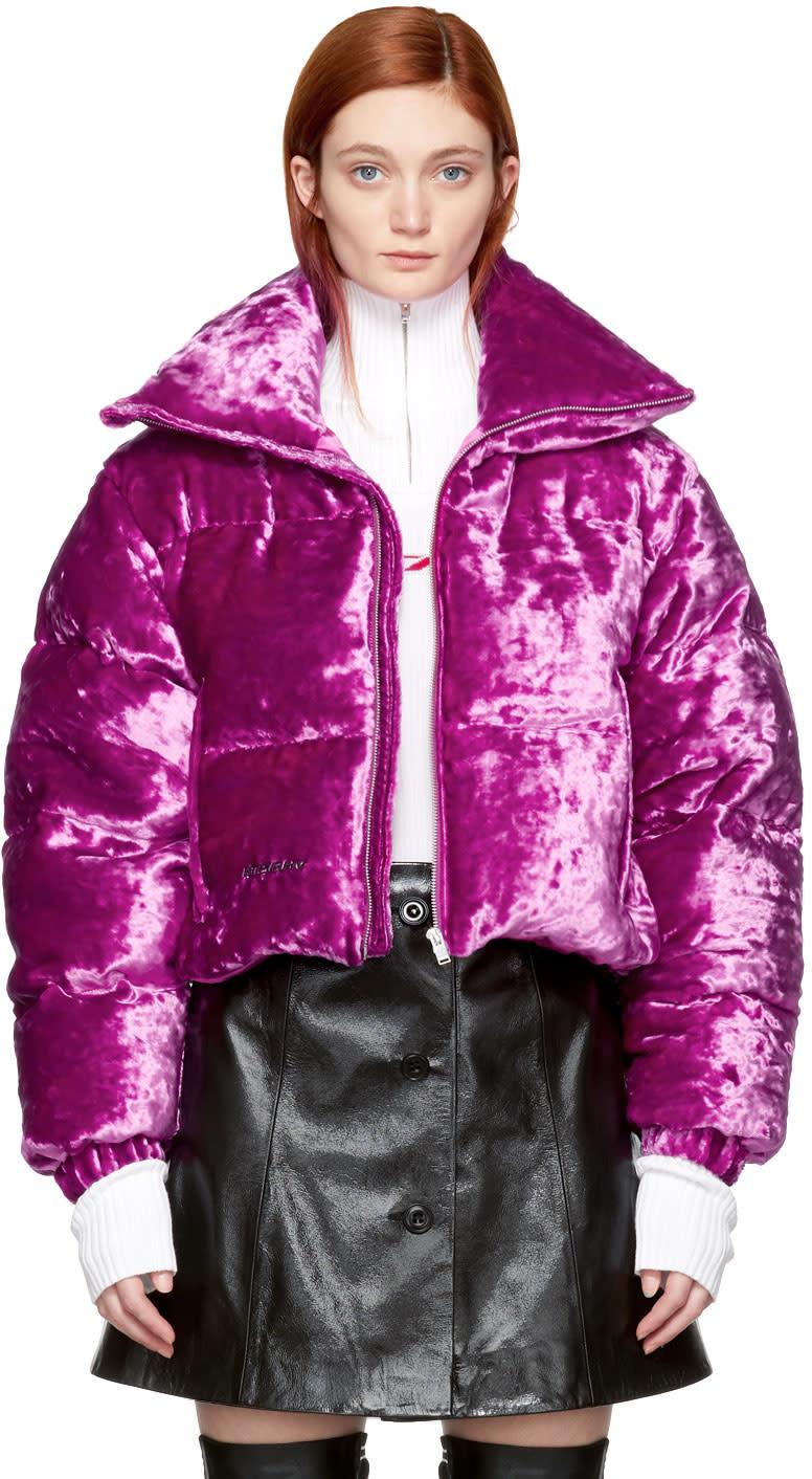 Misbhv Pink Velour Down Jacket