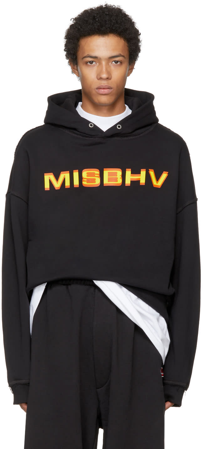 Image of Misbhv Black Protection Logo Hoodie