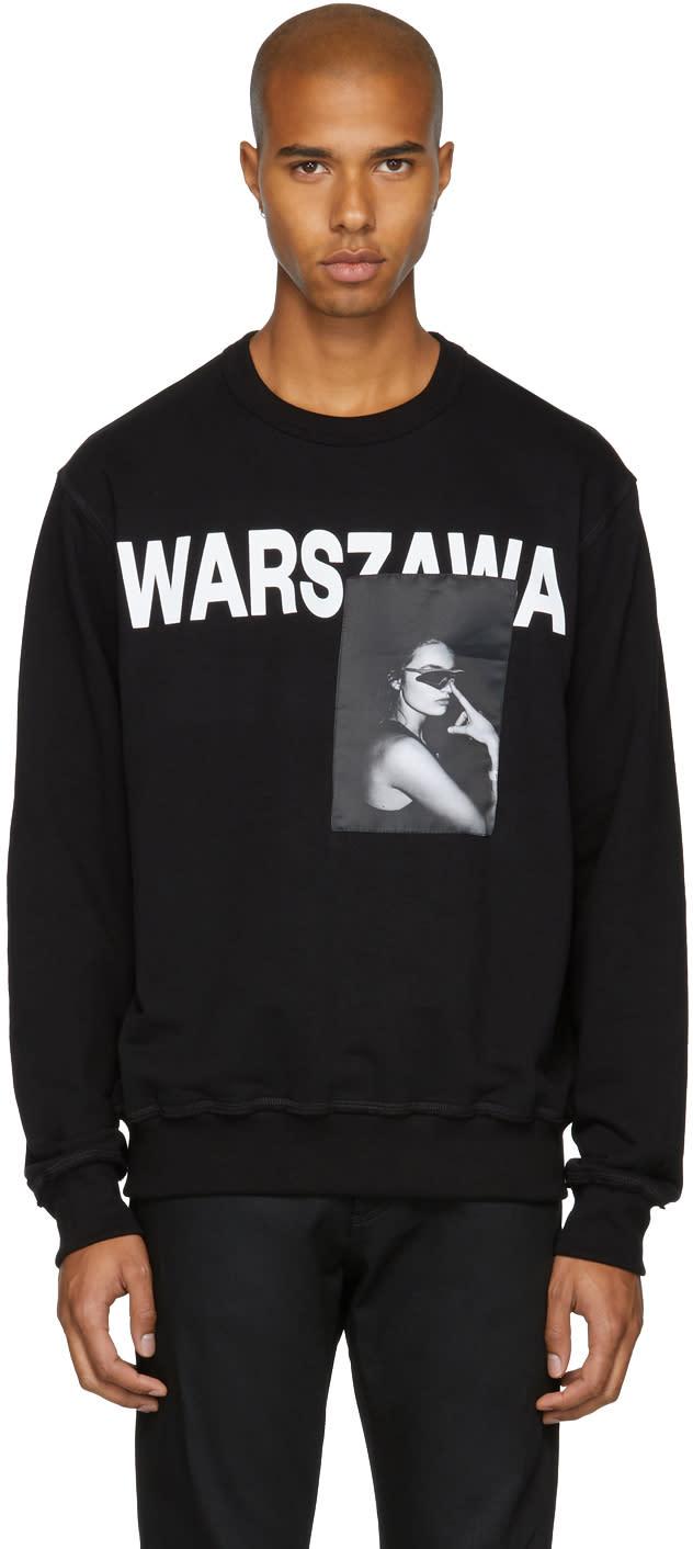 Image of Misbhv Black warszawa Crewneck Sweatshirt