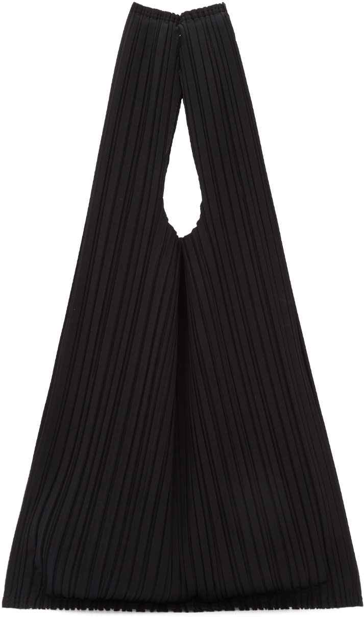 Image of Pleats Please Issey Miyake Black Pleats Tote