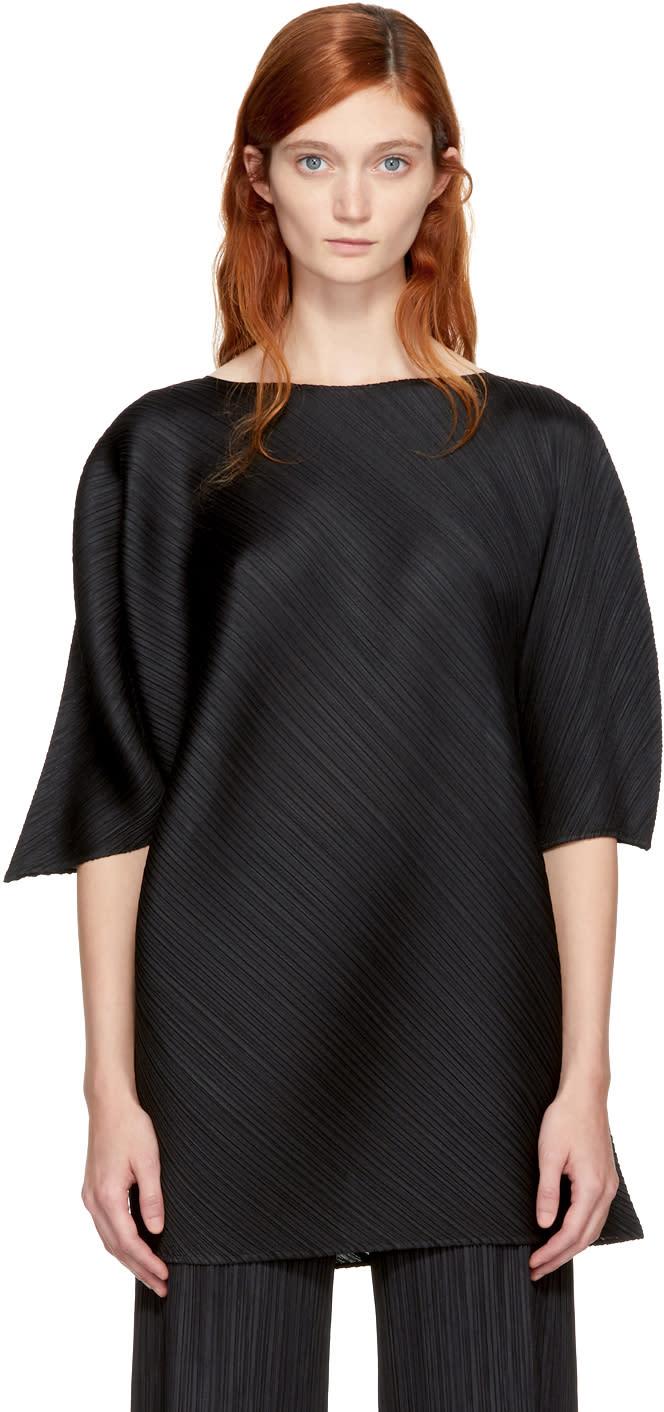 Image of Pleats Please Issey Miyake Black Gucha-gucha T-shirt