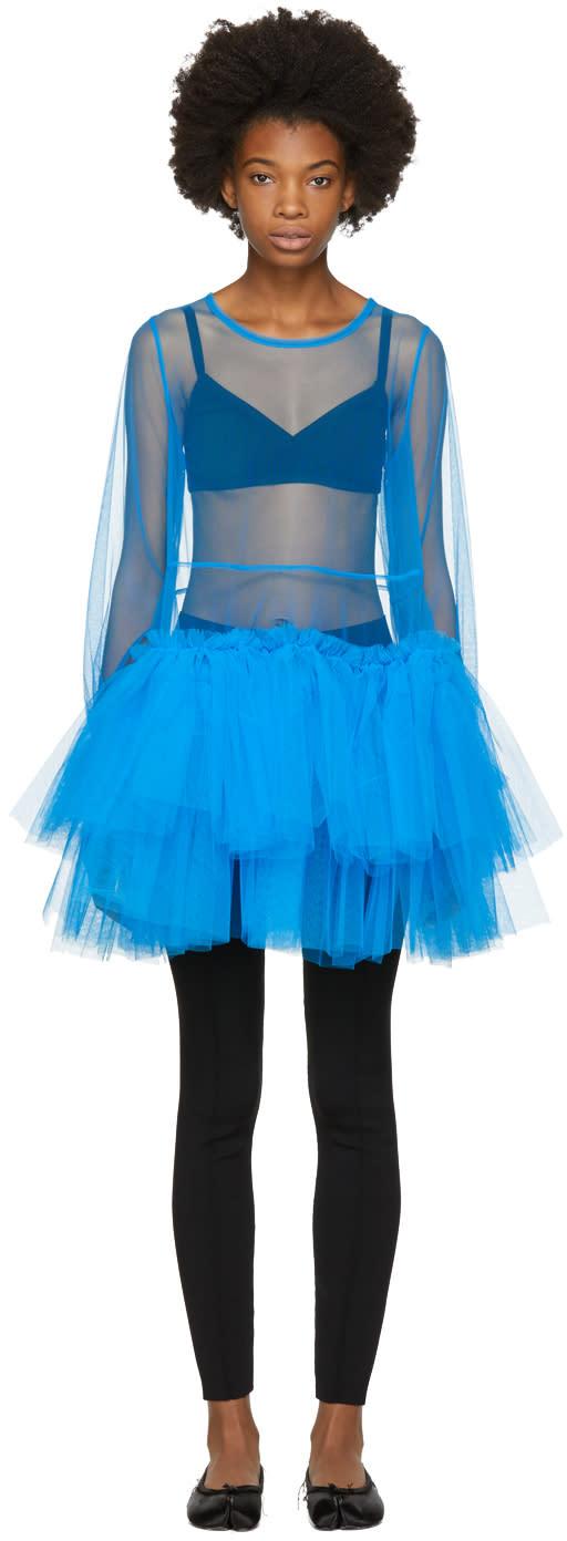 Image of Molly Goddard Blue Agatha Dress