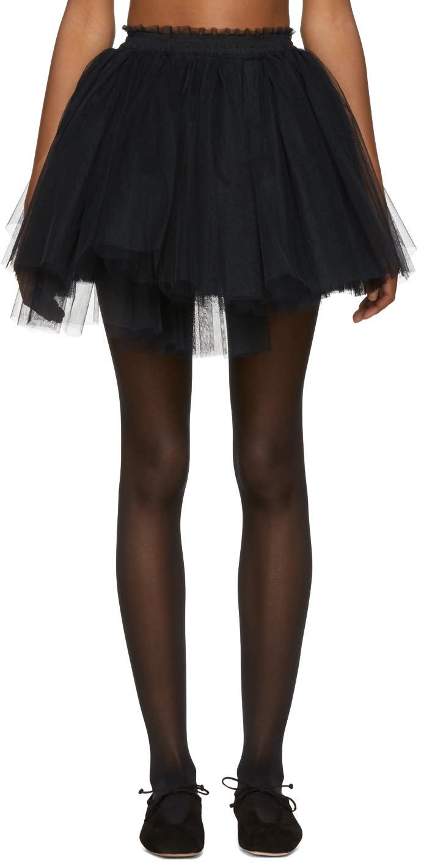 Image of Molly Goddard Black Me Miniskirt