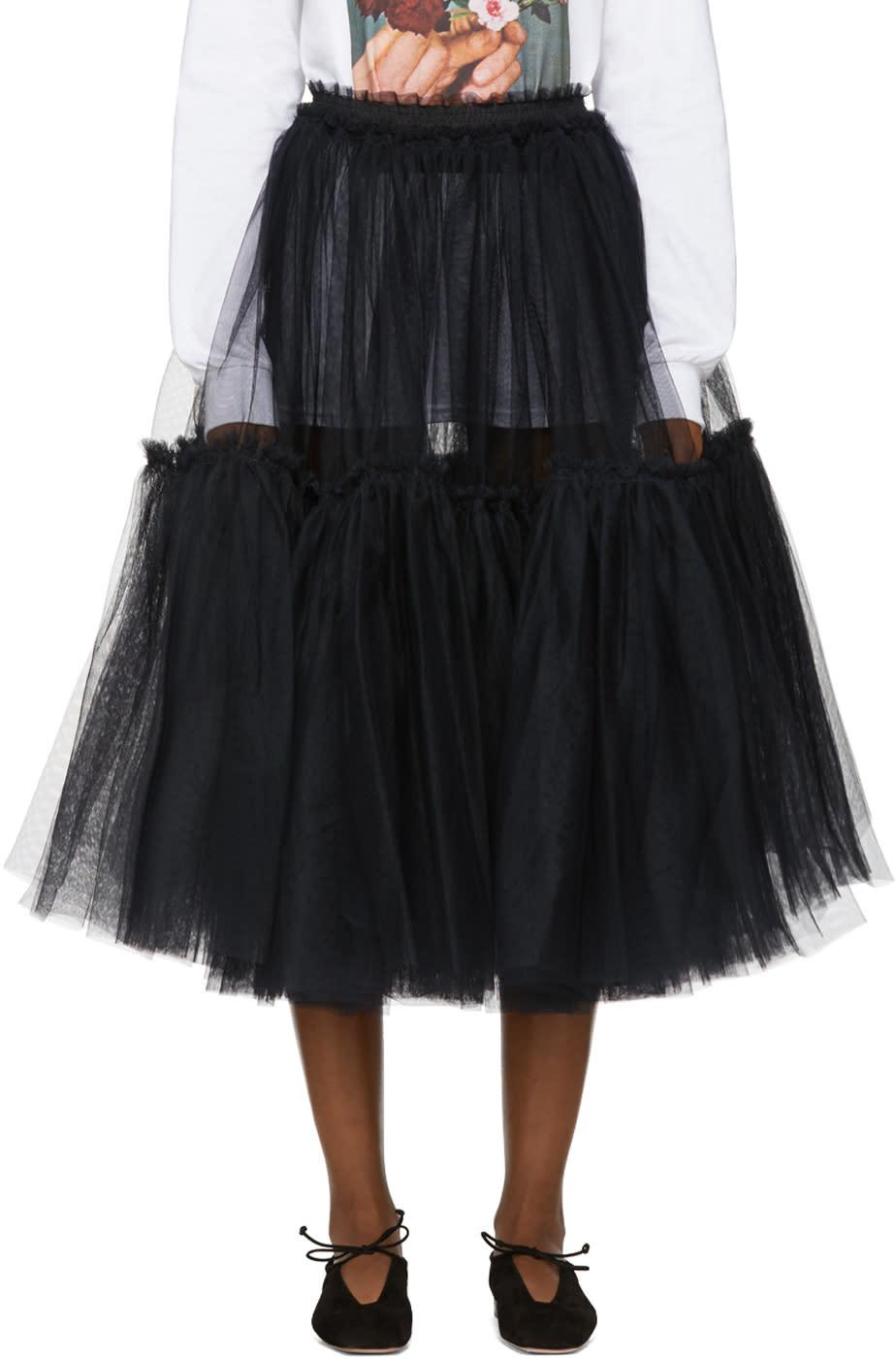 Image of Molly Goddard Black Gloria Skirt