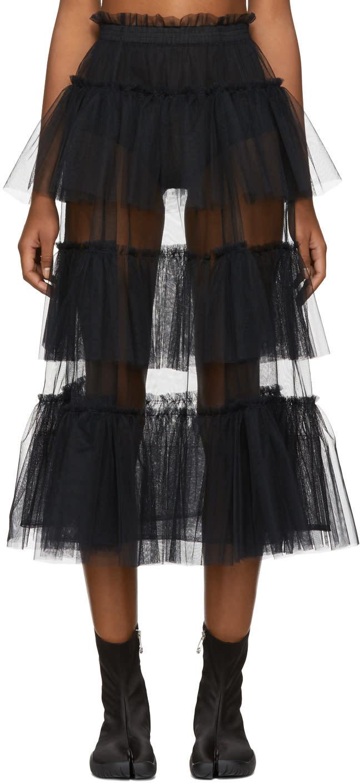 Image of Molly Goddard Black Tessa Skirt