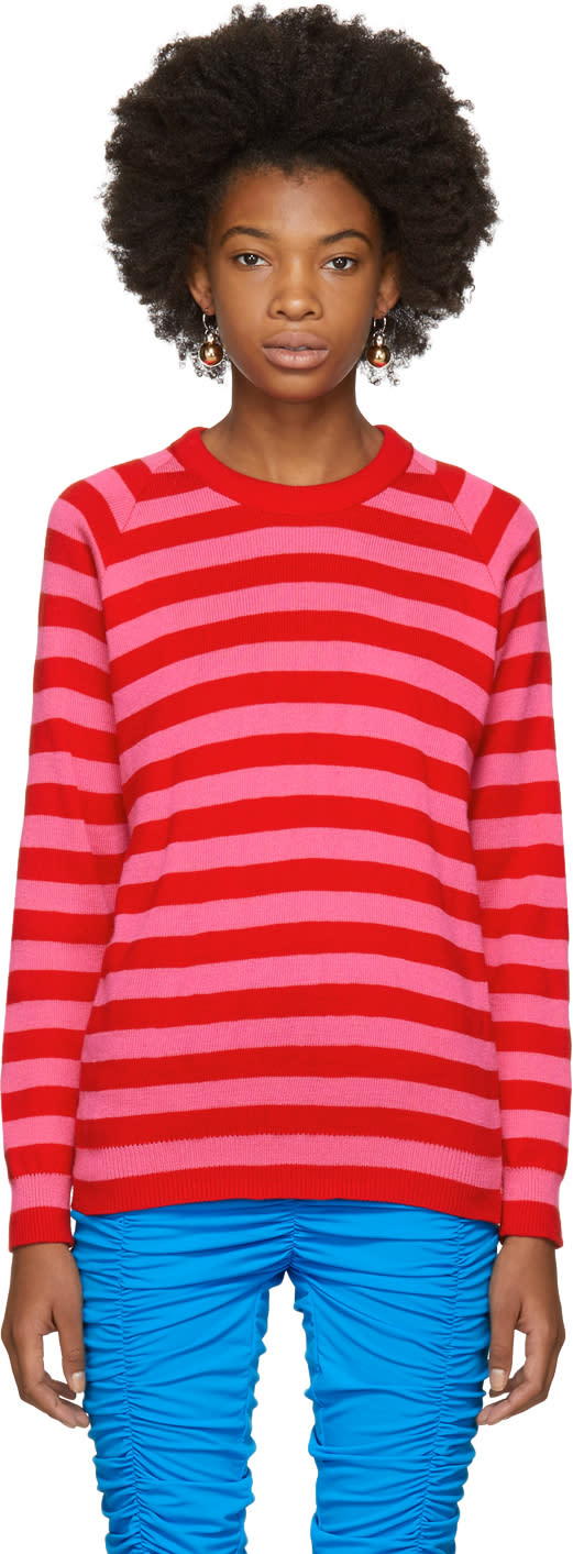 Image of Molly Goddard Pink and Red Jim Sweater