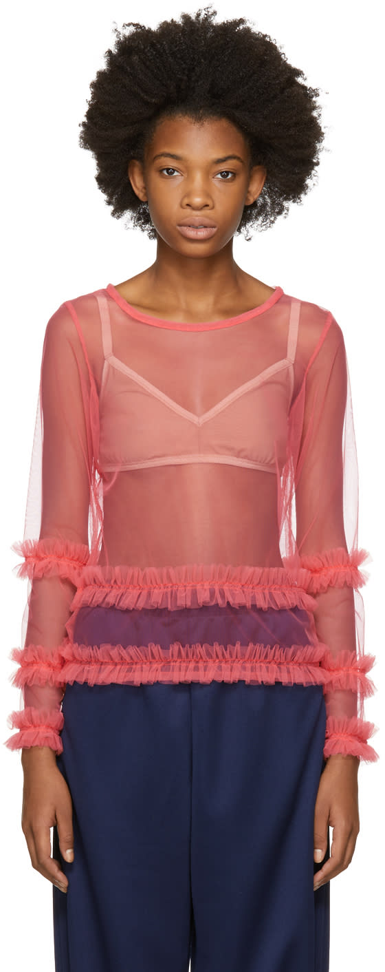 Image of Molly Goddard Pink Ed Blouse