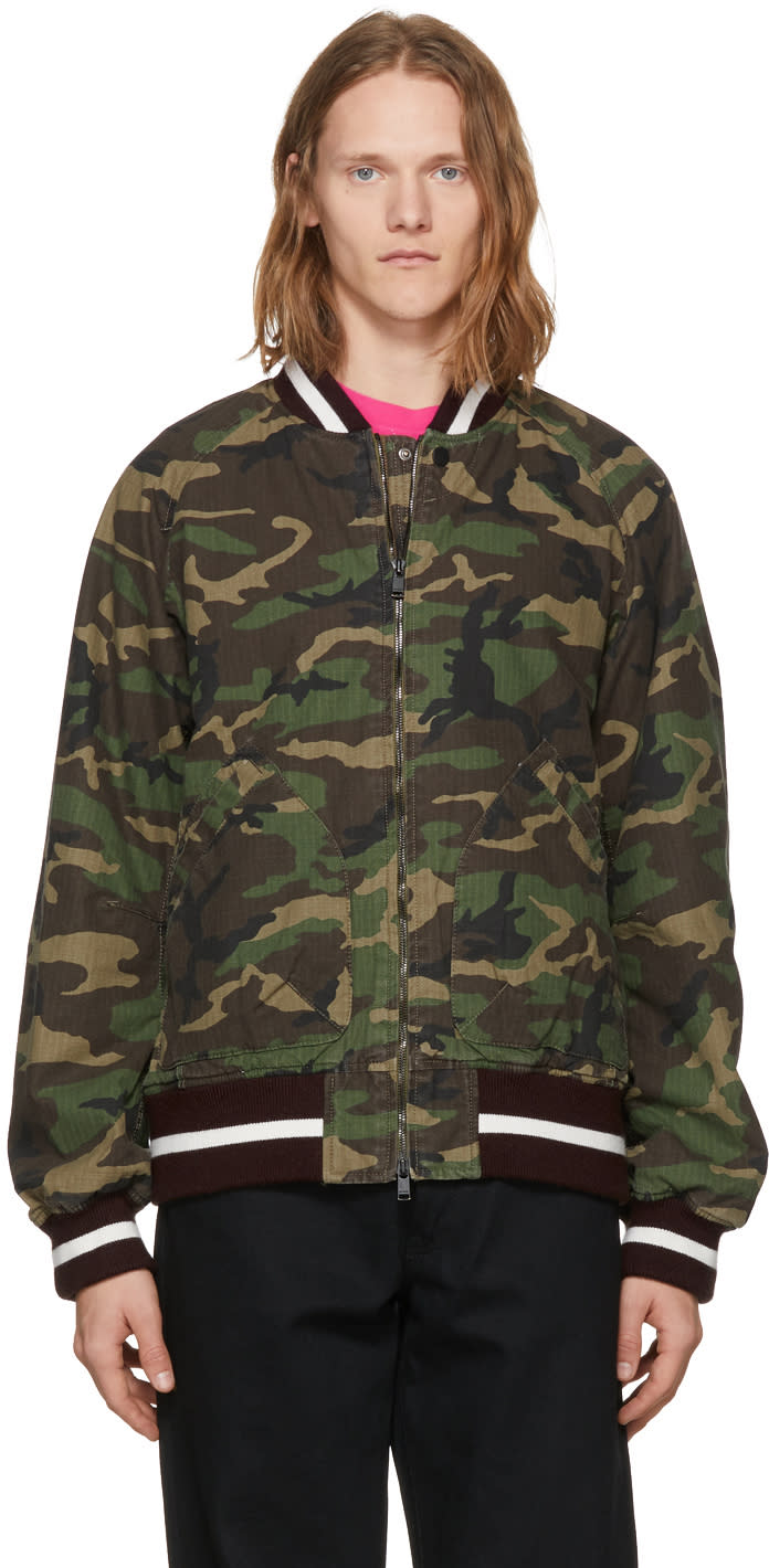 Image of Nonnative Multicolor Student Bomber Jacket