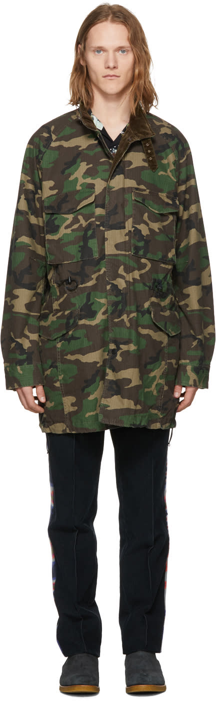 Image of Nonnative Green Camo Trooper Coat
