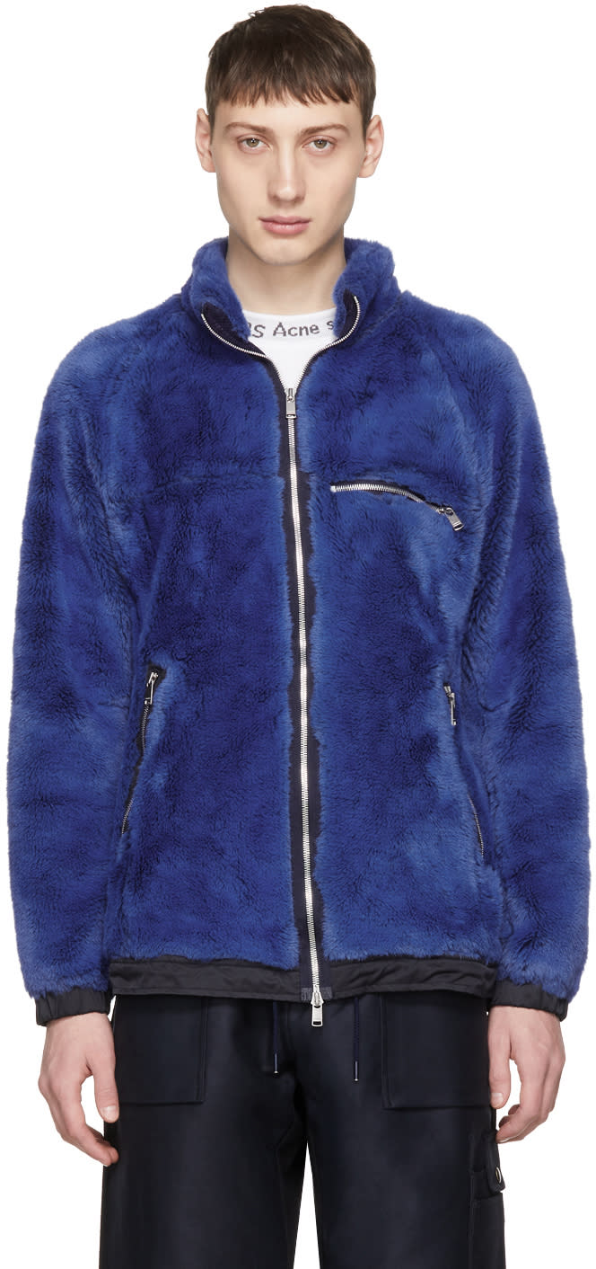 Image of Nonnative Blue Faux-fur Explorer Jacket