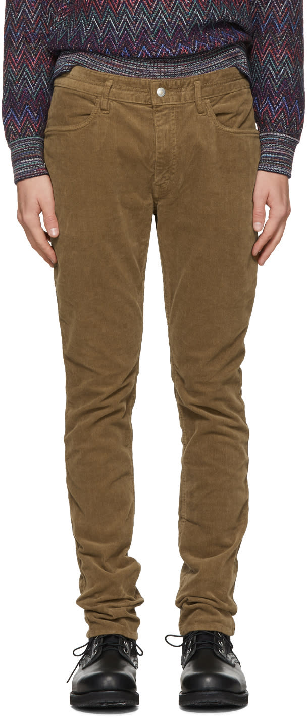 Image of Nonnative Brown Tapered Dweller Jeans