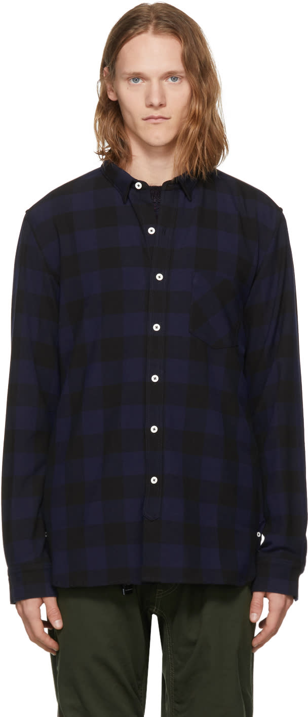 Image of Nonnative Navy and Black Dweller Shirt