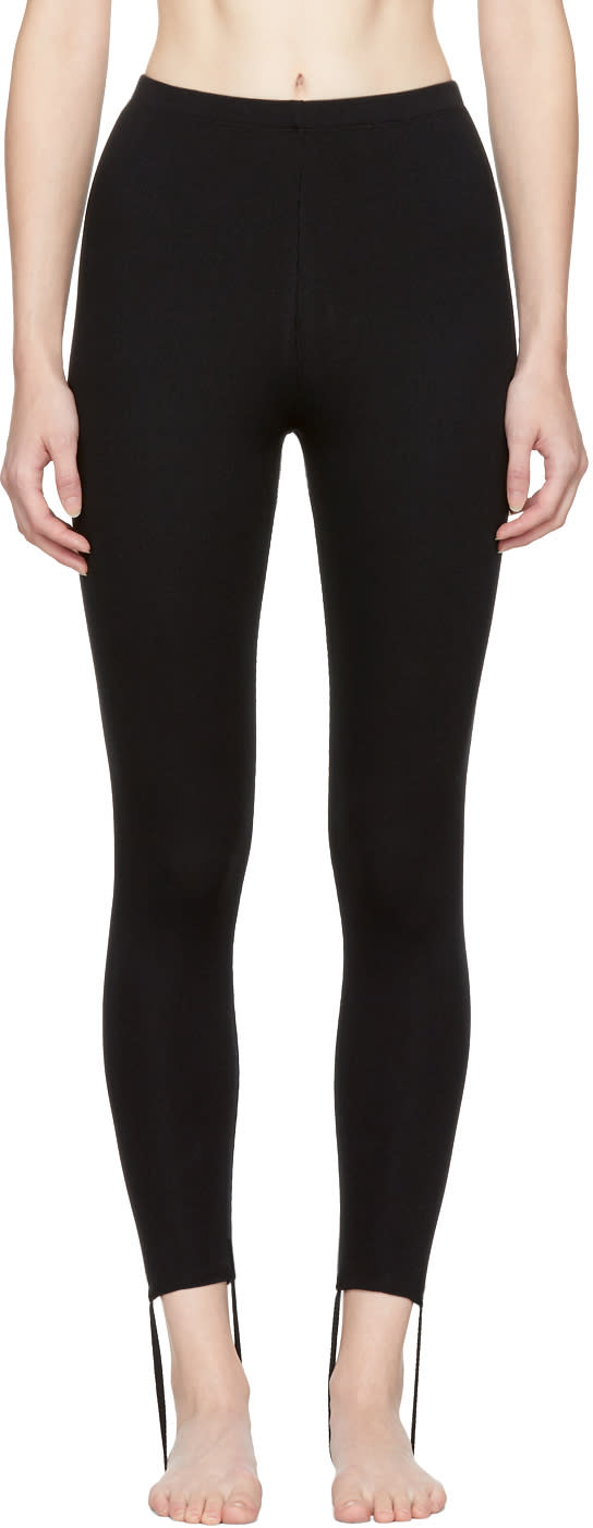 Image of Marieyat Black Dive Drop Binding Leggings