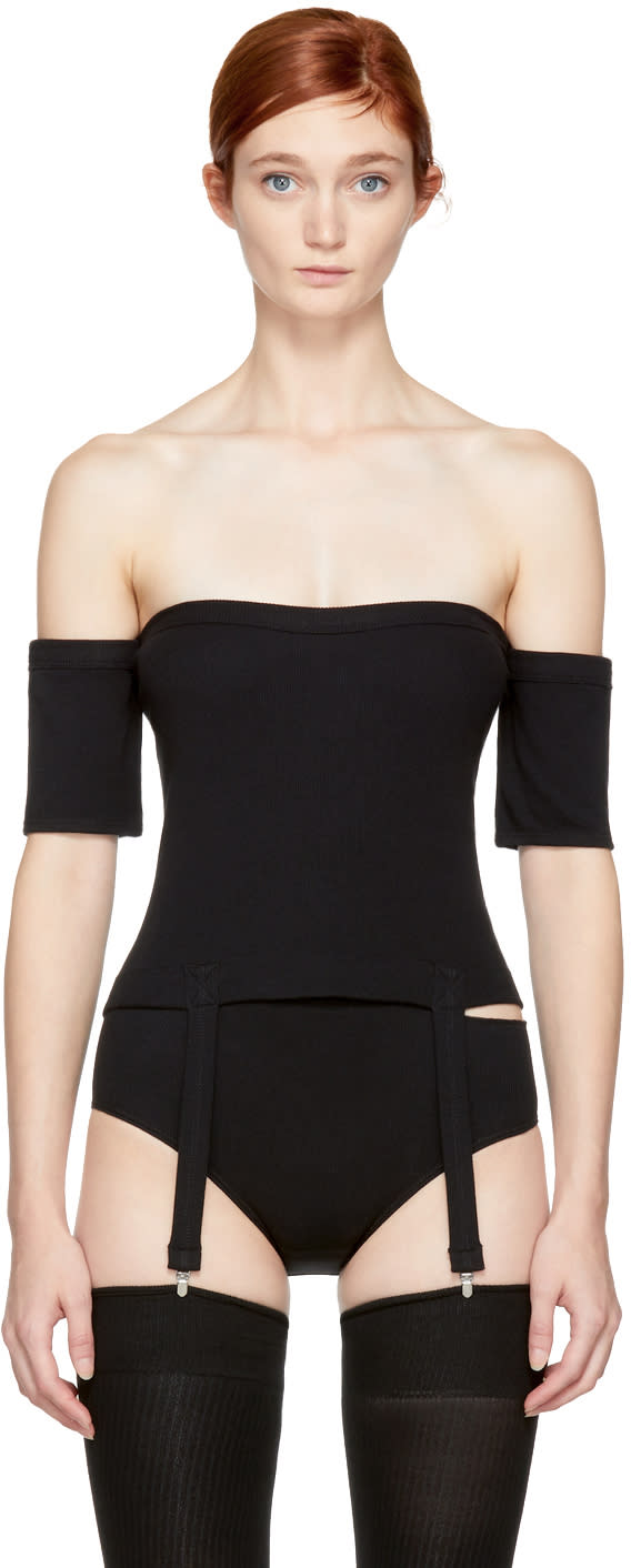 Image of Marieyat Black Clea Suspenders Tube Top