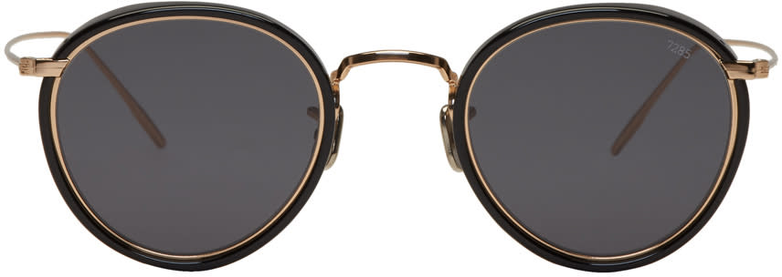 Image of Eyevan 7285 Gold and Black model 717 E Sunglasses