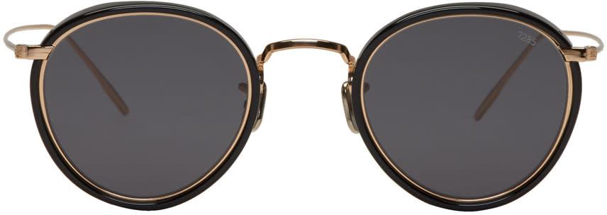 16fd7ff4fb Eyevan 7285 Gold and Black model 717 E Sunglasses