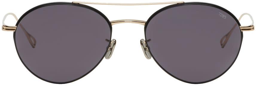 Image of Eyevan 7285 Gold and Black Model 752 Sunglasses