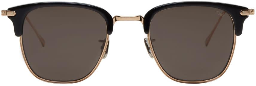 Image of Eyevan 7285 Gold and Black Model 736 Sunglasses