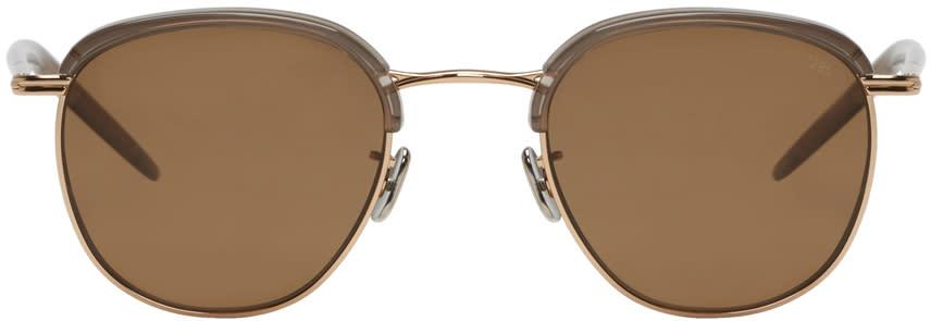 Image of Eyevan 7285 Gold Model 735 Sunglasses