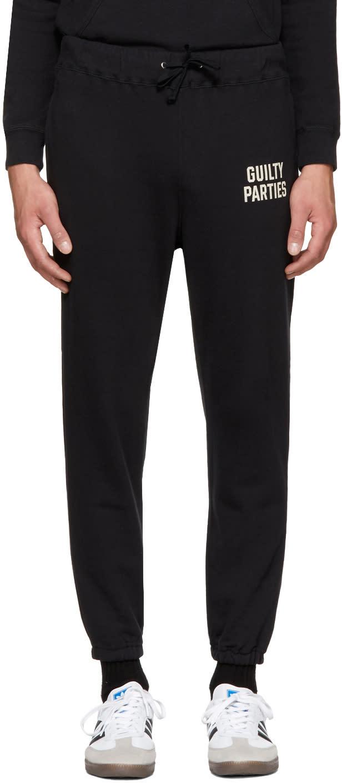 Image of Wacko Maria Black Cropped Lounge Pants