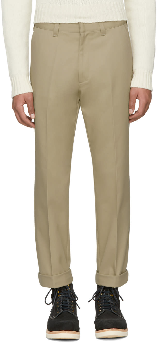 Image of Wacko Maria Beige guilty Parties Zack Skate Trousers
