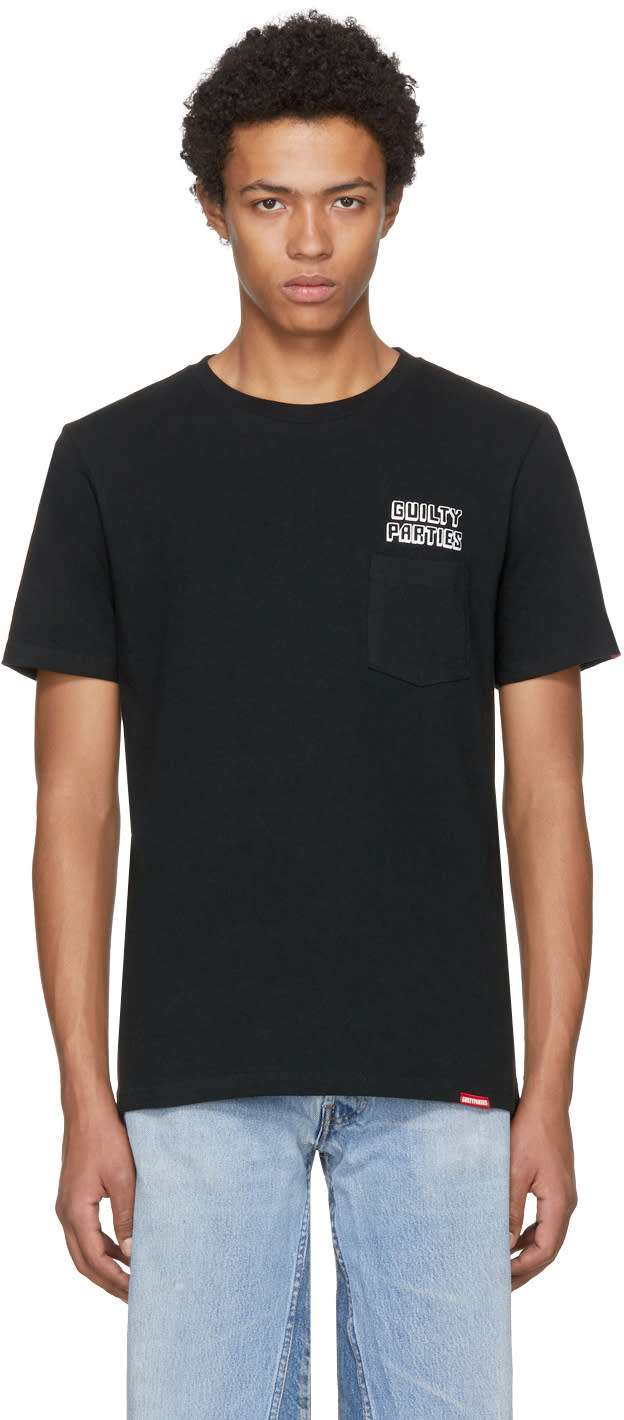 Image of Wacko Maria Black guilty Parties Pocket T-shirt