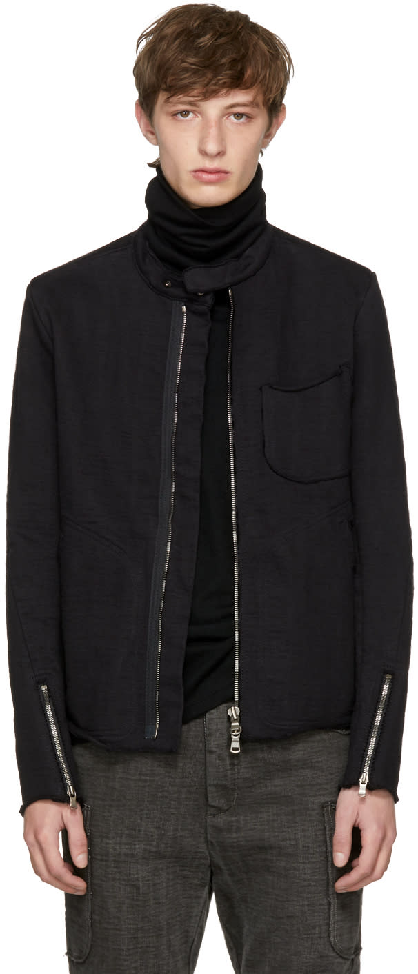 Image of The Viridi-anne Black Band Collar Jacket