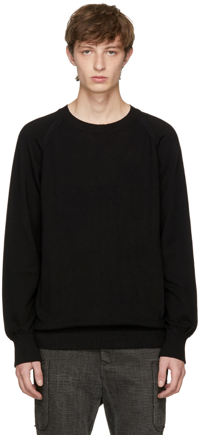 Image of The Viridi-anne Black Cotton Crewneck Sweater