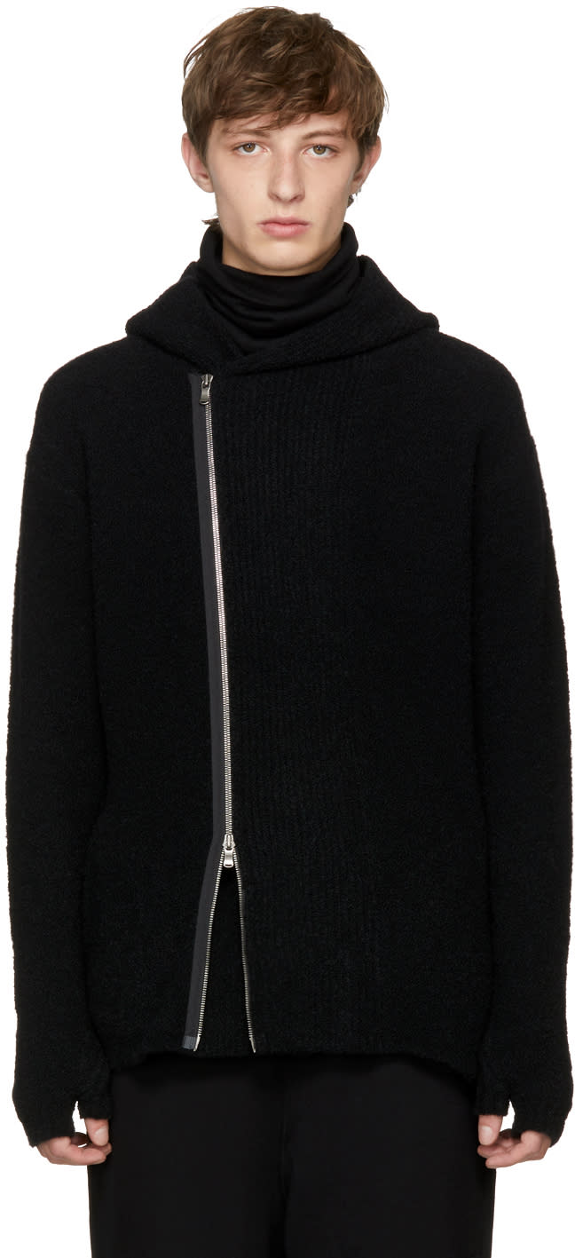Image of The Viridi-anne Black Overlap Zip Hoodie