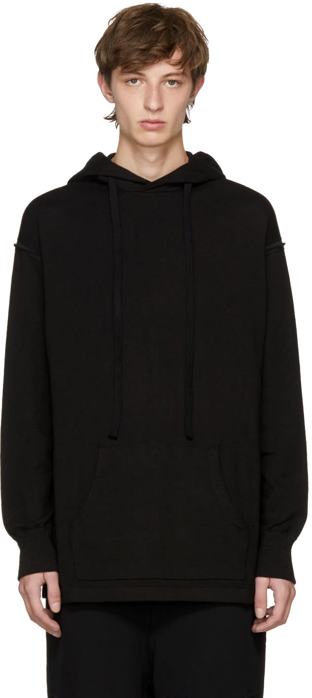Image of The Viridi-anne Black Kangaroo Drawstring Hoodie