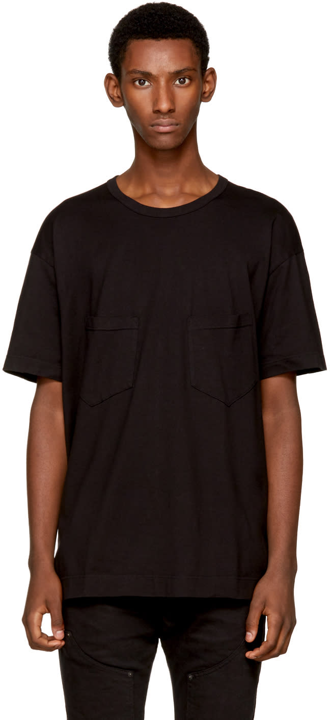 Image of The Viridi-anne Black Double Pocket T-shirt