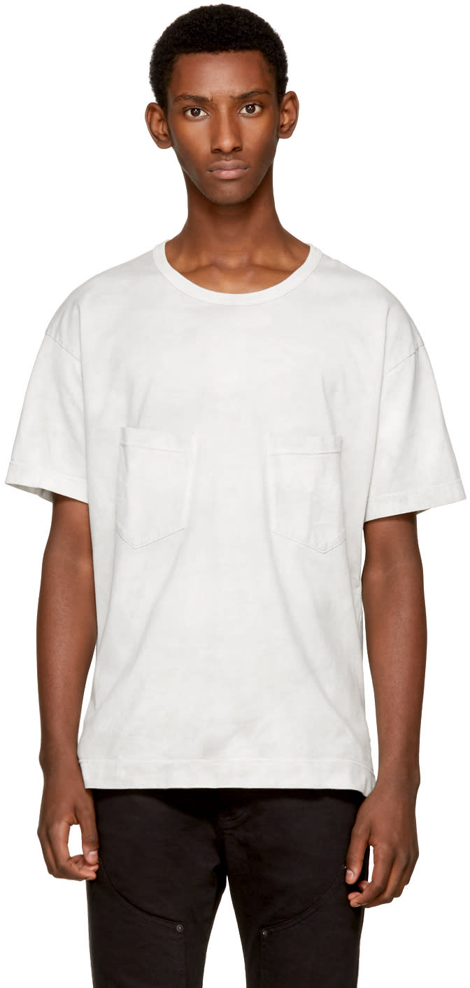 Image of The Viridi-anne Off-white Double Pocket T-shirt