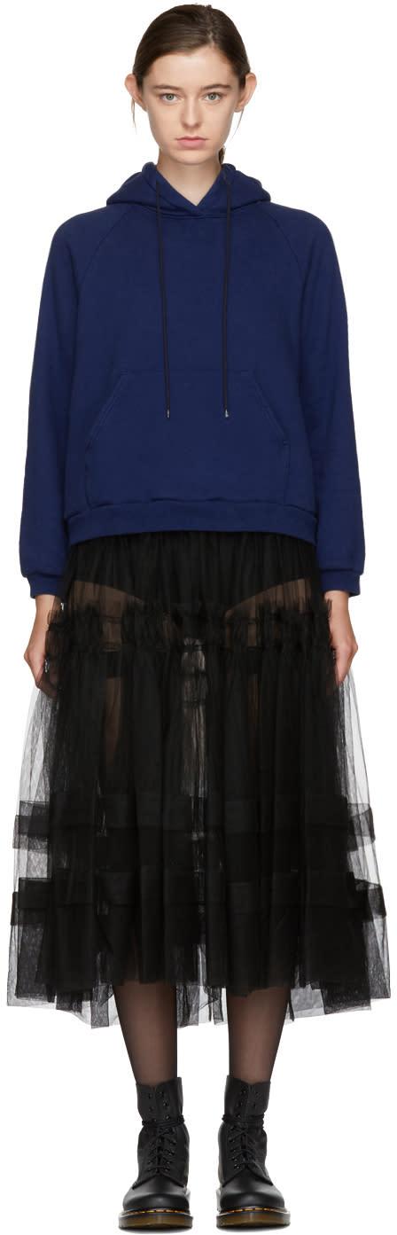 Image of Chika Kisada Blue and Black Hoodie Dress