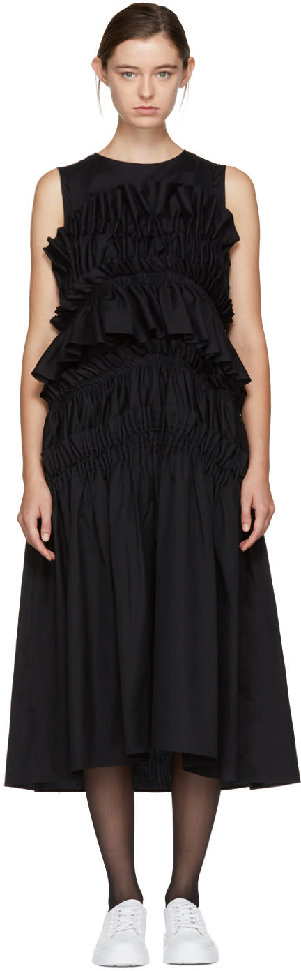 Image of Chika Kisada Black Layered Ruffle Dress