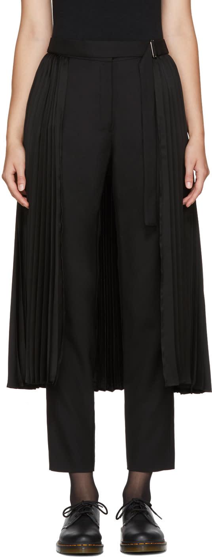 Image of Chika Kisada Black Pleated Skirt Trousers