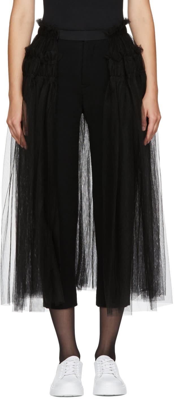 Image of Chika Kisada Black Tulle Belt Skirt