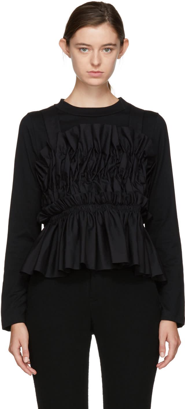 Image of Chika Kisada Black Layered Ruffle Blouse