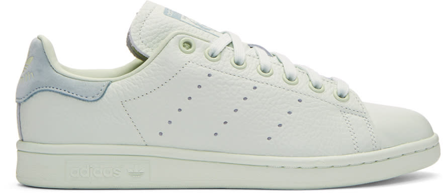 Image of Adidas Originals X Pharrell Williams Green Stan Smith Sneakers