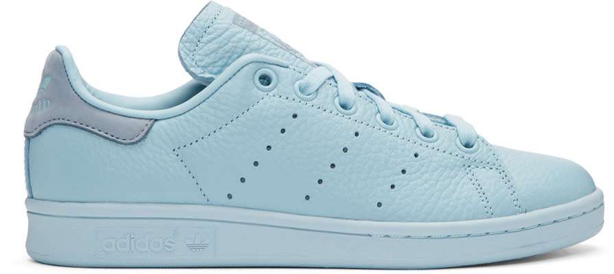 Image of Adidas Originals X Pharrell Williams Blue Stan Smith Sneakers