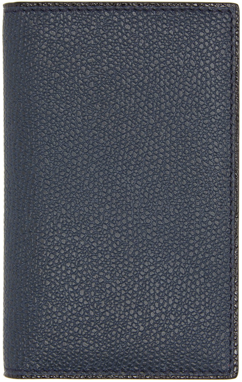 Valextra Navy Business Card Holder