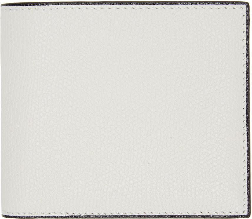 Valextra Off-white 6cc Bifold Wallet