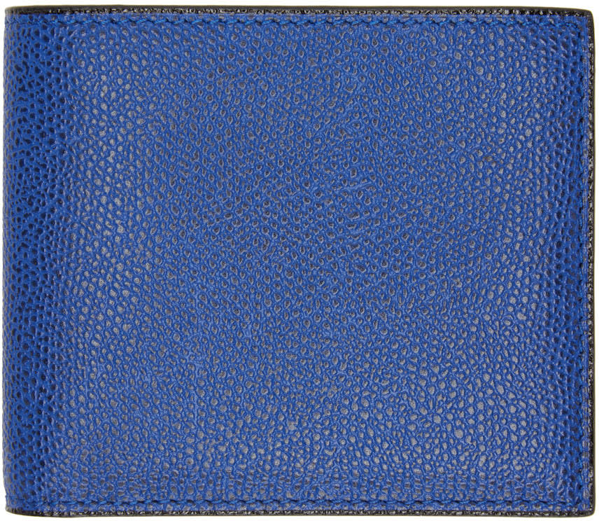 Image of Valextra Blue 6cc Bifold Wallet