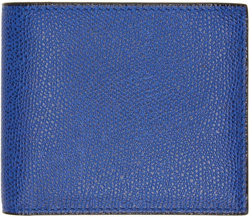 Valextra Blue 6cc Bifold Wallet