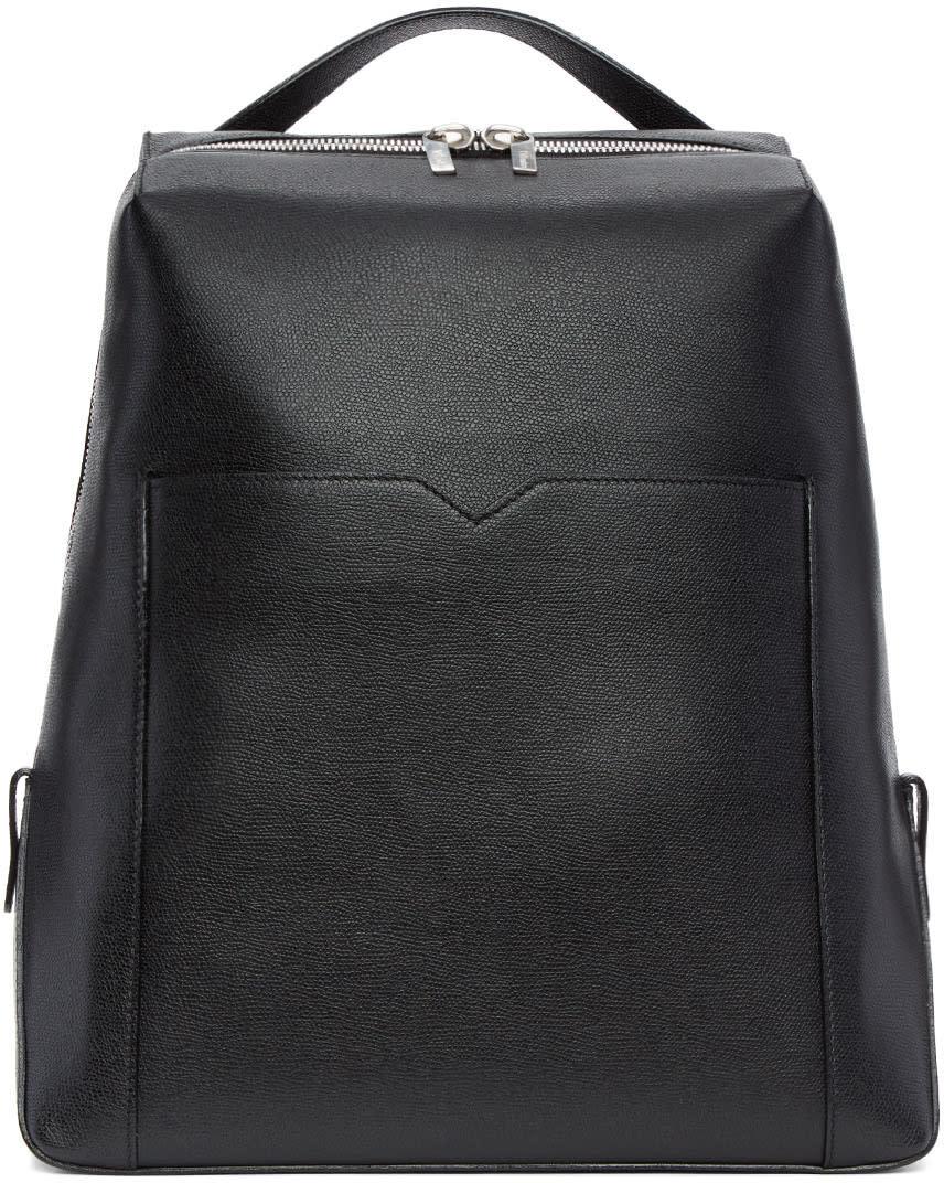 Image of Valextra Black V Backpack