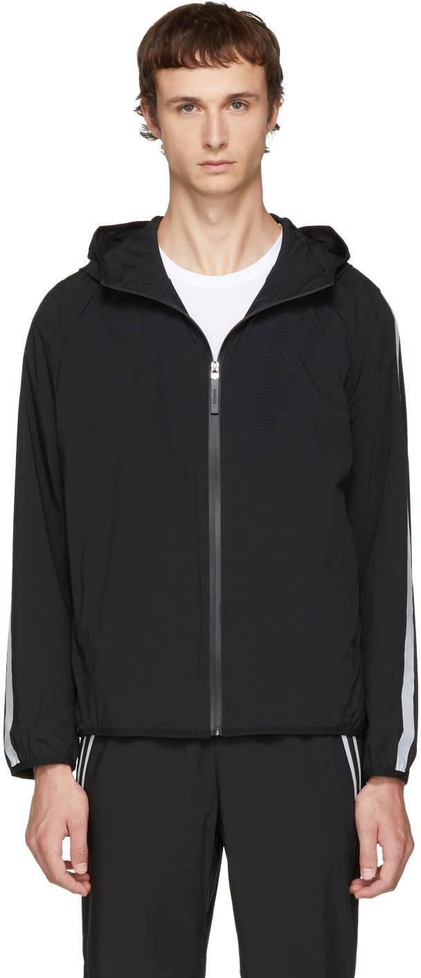 Image of Blackbarrett By Neil Barrett Black Perforated Windbreaker Jacket