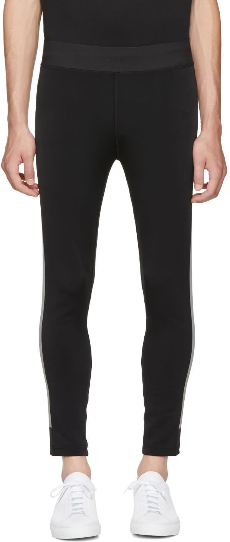 Image of Blackbarrett By Neil Barrett Black Sport Reflective Stripe Track Pants