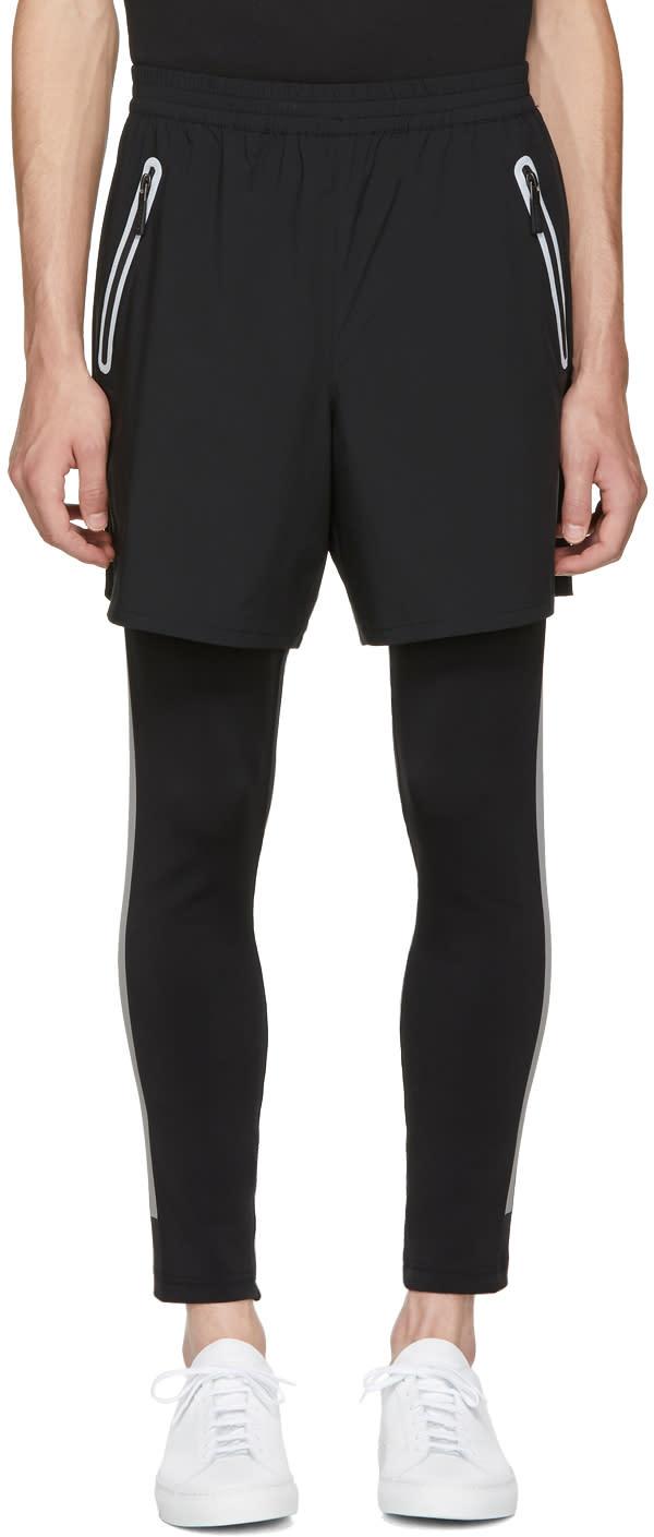 Image of Blackbarrett By Neil Barrett Black Sport Running Shorts