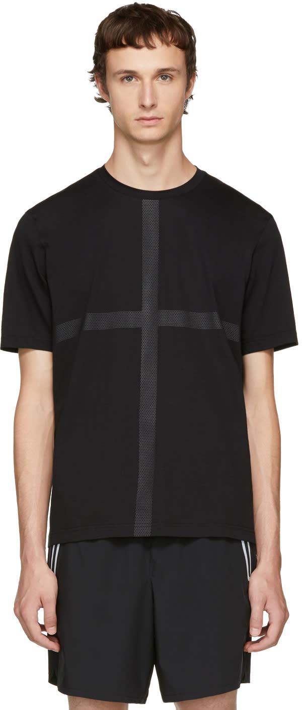 Image of Blackbarrett By Neil Barrett Black Hexagon Mesh Tape T-shirt