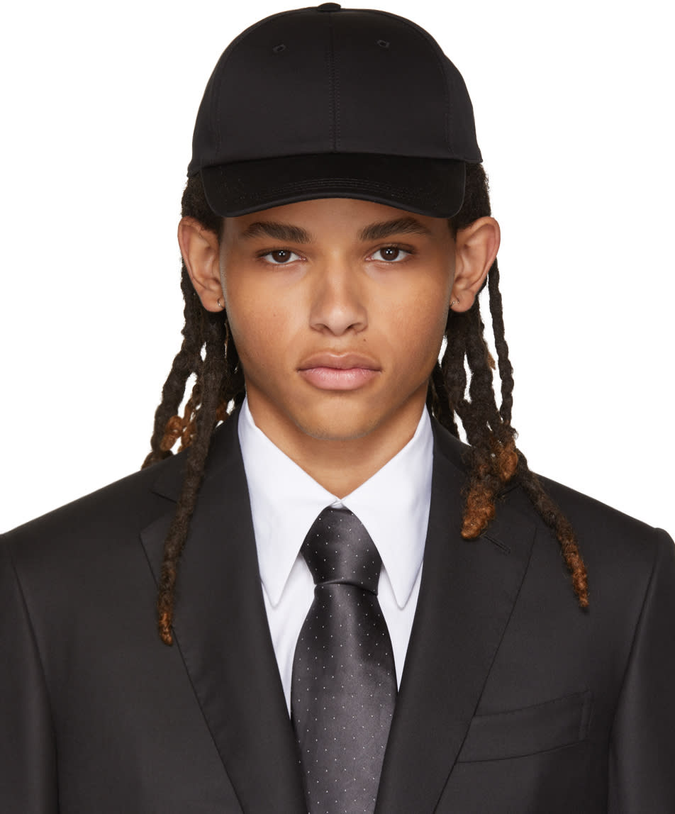 Image of Brioni Black Baseball Cap