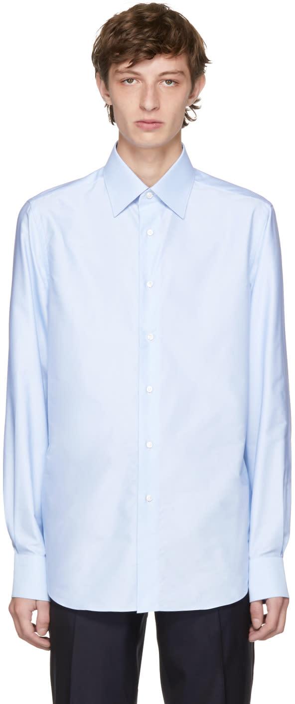 Brioni Chemise Ajustée Bleue Dress